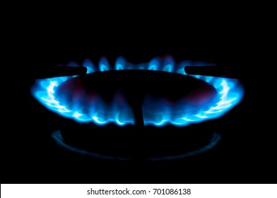 Flame from a gas stove, energy concept