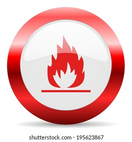 flame glossy web icon