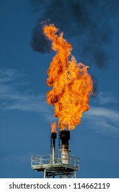 Flame on rigs in the gulf of thailand