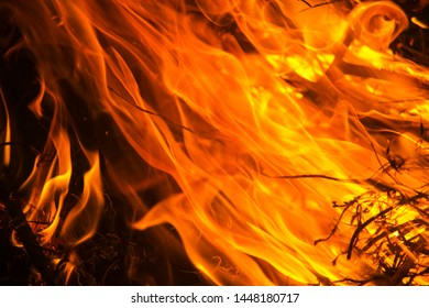 Flame pattern on a black background for graphic design or wallpaper