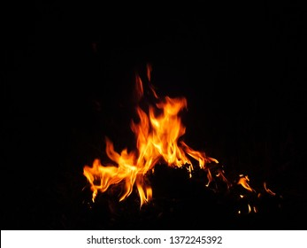 Flame surface, natural flame For the flame background