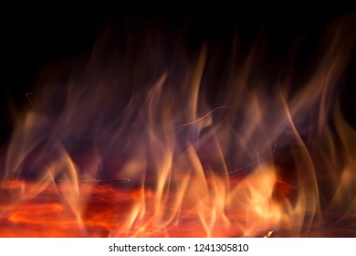 flame texture on black background