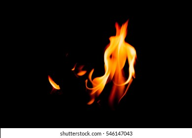 Flames with a black background