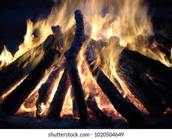 Flames and Burning Wood