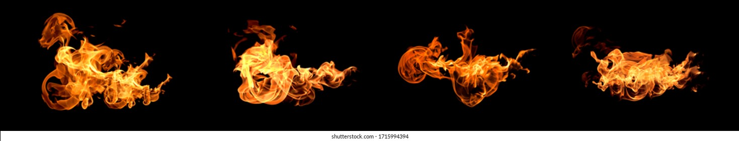 Flames fire burning heat. Isolated on a black backgroundAbstract red light background black textured pattern background.