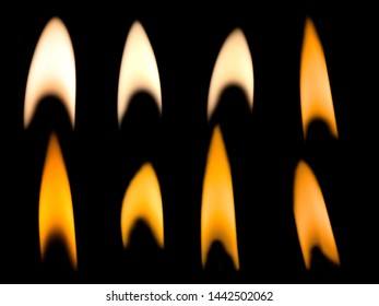 Flames light candles on back background.light in the darkness.