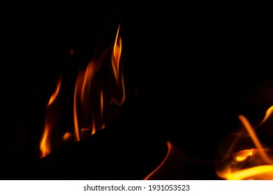 Flaming flames texture with black background