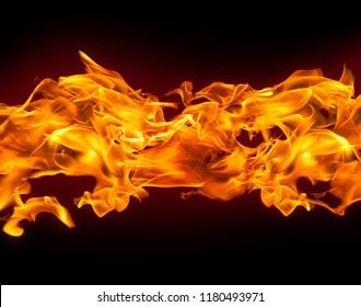 Flaming Hot Fire Banner Background