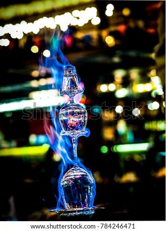 flaming Lamborghini cocktail drink