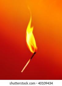 Flaming Match falling down