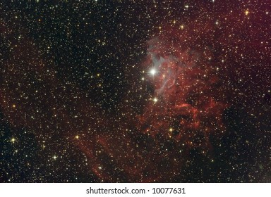 The flaming star nebula