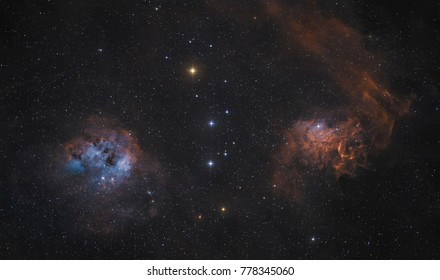 The Flaming Star Nebula is an emission and reflection nebula in the constellation Auriga