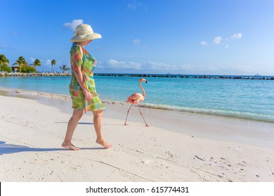 Flamingo beach. Aruba