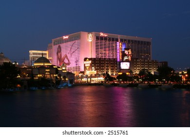The Flamingo Hotel, as seen from the Bellagio