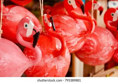 Flamingo shaped souvenirs