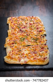 Flammkuchen or Traditional Alsatian Pie, Tart flambe