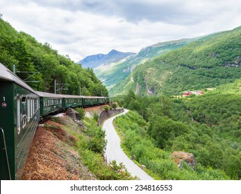 Flamsbana - a famous trainline from Myrdal to Flam, Norway