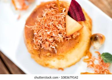 Flan, delicious dessert