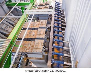 Flange of boiler in power plant.