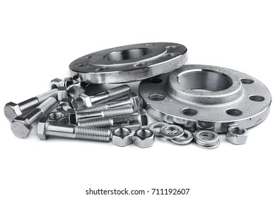 Flange screws and nuts