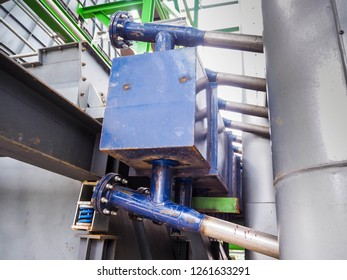 Flanges of boiler in power plant.