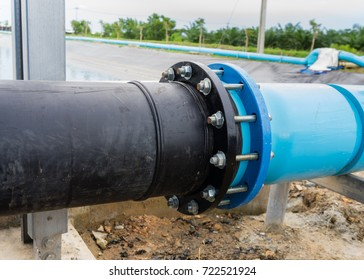 Flanges,pipe connection with  flange.