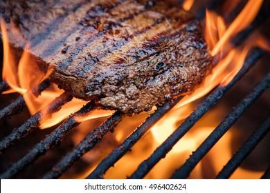 Flank Steak On Grill