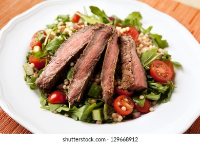 Flank Steak Salad with Israeli Couscous