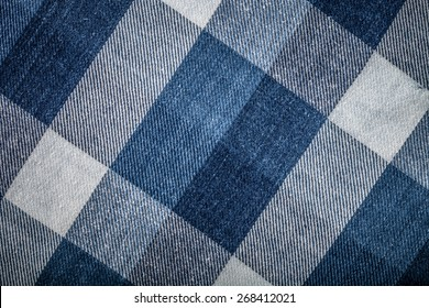 Flannel checkered background. Toned.