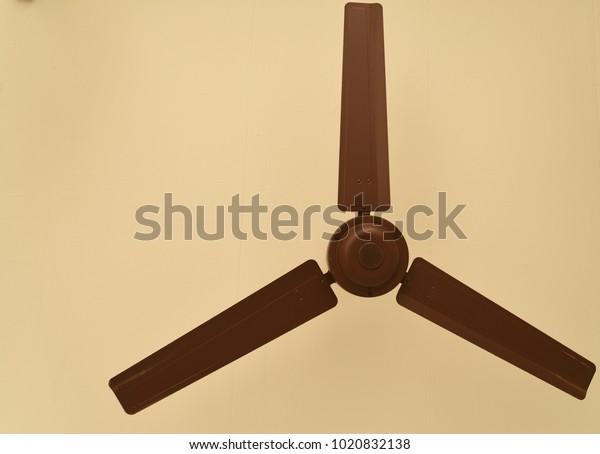 Big As Fan >> Flap Big Brown Ceiling Fan Hanging Stock Photo Edit Now 1020832138