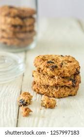 Flapjack cookies and cookie jar