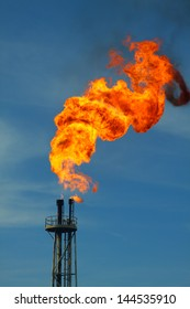 Flare burn in oil and gas society.