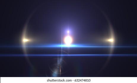 Flare Light transition, lens flare, light leaks, overlays - Shutterstock ID 632474810