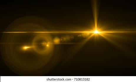 Flare Light transition, lens flare, light leaks, overlays