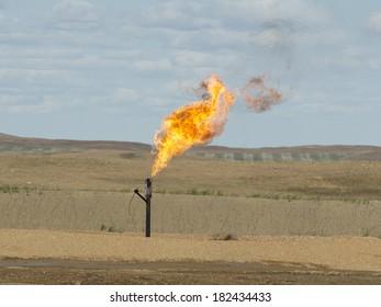 Flaring Natural Gas in North Dakota