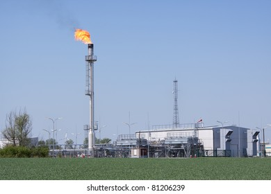 Flaring of natural gas in the oil industry