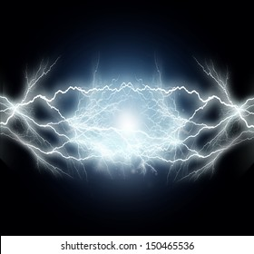 flash of electric light.