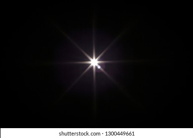 Flash light effect isolated on transparent background. White flashlight, flare or camera flash overlay