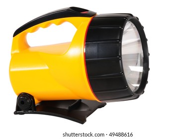 Flash light. Isolated