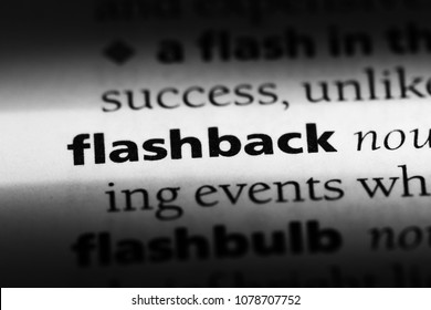 flashback word in a dictionary. flashback concept
