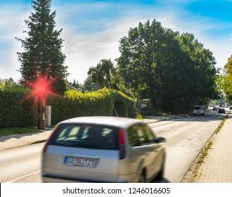 Flashed radar speeding speed camera