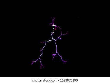 Flashes from a Tesla coil