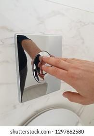 Flashing modern dual flash hidden or consealed toilet water tank