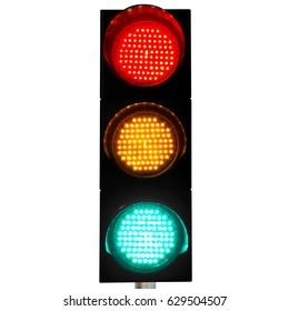 Flashing Red Yellow Green Light
