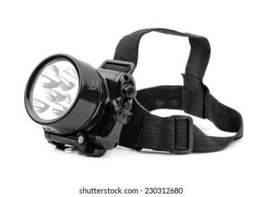 flashlight, isolated on white background