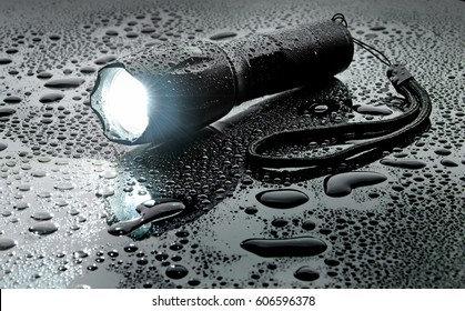 Flashlight water resistant in drops