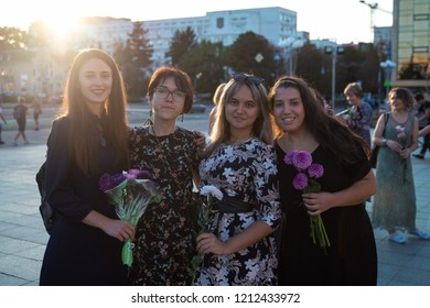 Flashmob Feminine and Beauty Day. Cherkasy Ukraine September 20, 2018