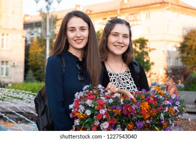 Flashmob Feminine and Beauty Day. Cherkasy Ukraine September 20, 2018