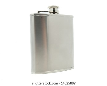 flask  for men isolated an white background