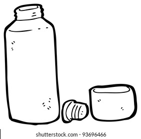 flask of tea cartoon (raster version)